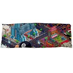 Pixel Art City Body Pillow Case (dakimakura) by Onesevenart