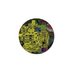 Technology Circuit Board Golf Ball Marker by Onesevenart