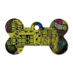 Technology Circuit Board Dog Tag Bone (one Side) by Onesevenart