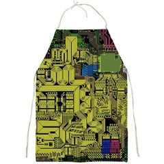 Technology Circuit Board Full Print Aprons by Onesevenart