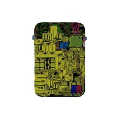 Technology Circuit Board Apple Ipad Mini Protective Soft Cases by Onesevenart