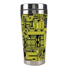 Technology Circuit Board Stainless Steel Travel Tumblers by Onesevenart