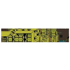 Technology Circuit Board Flano Scarf (small) by Onesevenart