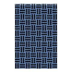 Woven1 Black Marble & Blue Denim (r) Shower Curtain 48  X 72  (small) by trendistuff