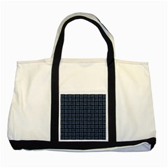 Woven1 Black Marble & Blue Denim Two Tone Tote Bag by trendistuff