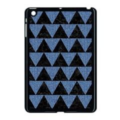 Triangle2 Black Marble & Blue Denim Apple Ipad Mini Case (black) by trendistuff