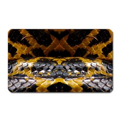 Textures Snake Skin Patterns Magnet (rectangular) by Onesevenart