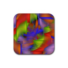 Texture Pattern Programming Processing Rubber Square Coaster (4 Pack)  by Onesevenart