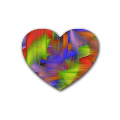 Texture Pattern Programming Processing Rubber Coaster (heart)  by Onesevenart