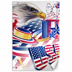 United States Of America Usa  Images Independence Day Canvas 20  X 30   by Onesevenart
