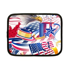 United States Of America Usa  Images Independence Day Netbook Case (small)  by Onesevenart