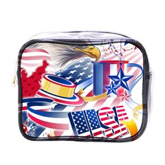 United States Of America Usa  Images Independence Day Mini Toiletries Bags by Onesevenart