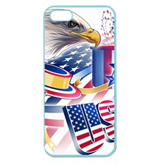 United States Of America Usa  Images Independence Day Apple Seamless Iphone 5 Case (color) by Onesevenart