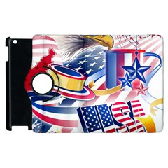 United States Of America Usa  Images Independence Day Apple Ipad 2 Flip 360 Case by Onesevenart