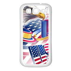 United States Of America Usa  Images Independence Day Samsung Galaxy S3 Back Case (white) by Onesevenart