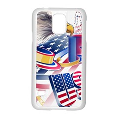 United States Of America Usa  Images Independence Day Samsung Galaxy S5 Case (white) by Onesevenart