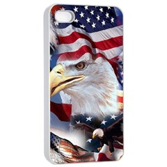 United States Of America Images Independence Day Apple Iphone 4/4s Seamless Case (white) by Onesevenart