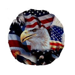 United States Of America Images Independence Day Standard 15  Premium Round Cushions by Onesevenart