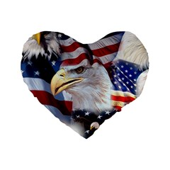 United States Of America Images Independence Day Standard 16  Premium Heart Shape Cushions by Onesevenart