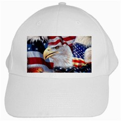 United States Of America Images Independence Day White Cap by Onesevenart