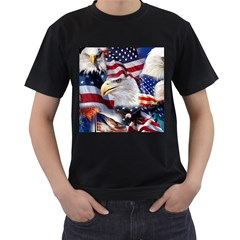 United States Of America Images Independence Day Men s T Shirt (black) (two Sided) by Onesevenart