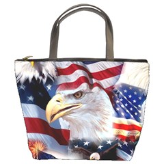 United States Of America Images Independence Day Bucket Bags by Onesevenart