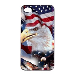 United States Of America Images Independence Day Apple Iphone 4/4s Seamless Case (black) by Onesevenart