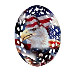 United States Of America Images Independence Day Oval Filigree Ornament (two Sides) by Onesevenart