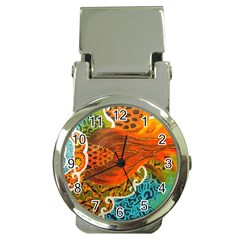 The Beautiful Of Art Indonesian Batik Pattern Money Clip Watches by Onesevenart