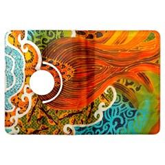 The Beautiful Of Art Indonesian Batik Pattern Kindle Fire Hdx Flip 360 Case by Onesevenart