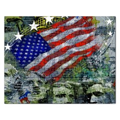 Usa United States Of America Images Independence Day Rectangular Jigsaw Puzzl by Onesevenart