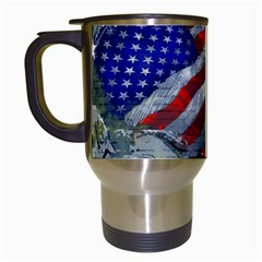 Usa United States Of America Images Independence Day Travel Mugs (white) by Onesevenart