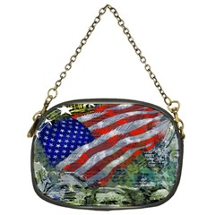 Usa United States Of America Images Independence Day Chain Purses (one Side)  by Onesevenart