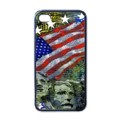 Usa United States Of America Images Independence Day Apple Iphone 4 Case (black) by Onesevenart