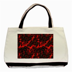 Volcanic Textures Basic Tote Bag by Onesevenart