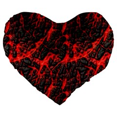 Volcanic Textures Large 19  Premium Heart Shape Cushions by Onesevenart