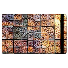 Wooden Blocks Detail Apple Ipad 2 Flip Case by Onesevenart