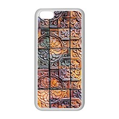 Wooden Blocks Detail Apple Iphone 5c Seamless Case (white) by Onesevenart