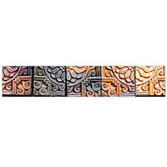 Wooden Blocks Detail Flano Scarf (large) by Onesevenart