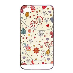 Spring Floral Pattern With Butterflies Apple Iphone 4/4s Seamless Case (black) by TastefulDesigns