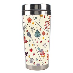 Spring Floral Pattern With Butterflies Stainless Steel Travel Tumblers by TastefulDesigns