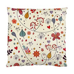 Spring Floral Pattern With Butterflies Standard Cushion Case (one Side) by TastefulDesigns