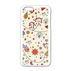 Spring Floral Pattern With Butterflies Apple Iphone 6/6s White Enamel Case by TastefulDesigns