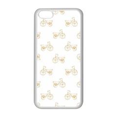 Retro Bicycles Motif Vintage Pattern Apple Iphone 5c Seamless Case (white) by dflcprints