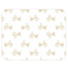 Retro Bicycles Motif Vintage Pattern Double Sided Flano Blanket (medium)  by dflcprints