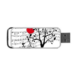 Love Song Portable Usb Flash (two Sides) by Valentinaart