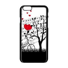 Love Song Apple Iphone 6/6s Black Enamel Case by Valentinaart
