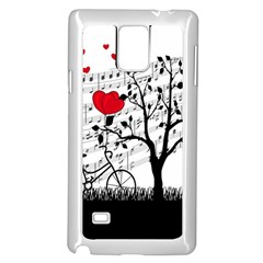 Love song Samsung Galaxy Note 4 Case (White) by Valentinaart