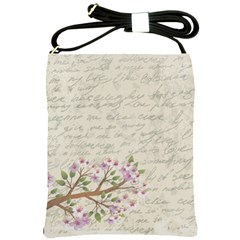 Cherry Blossom Shoulder Sling Bags by Valentinaart