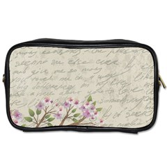 Cherry Blossom Toiletries Bags 2 Side by Valentinaart